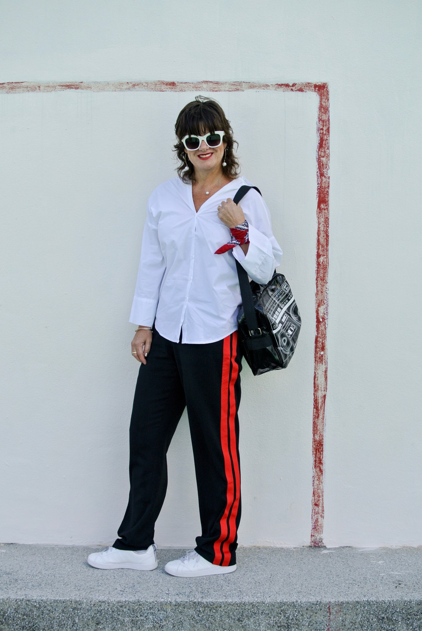 Zara Diy Pants The Double Red Stripe Kremb De La Marching Black