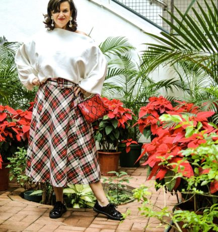 Wearing a Holiday Circle Skirt with Sneakers